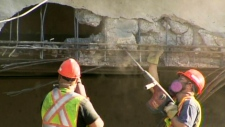 CTV BC: Highways closed after truck hits overpass