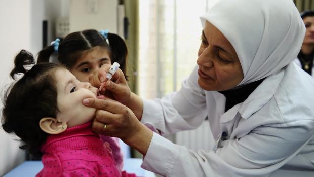 Polio outbreak in Syria