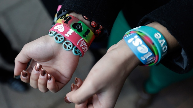 Easton Area School District students' bracelets