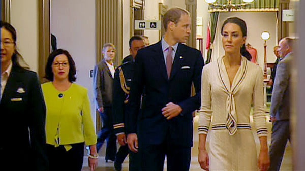 The Duke and Duchess of Cambridge arrive at Province House in P.E.I., Monday, July 4, 2011.