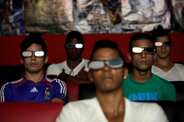 3D movie at a private movie theater