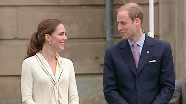 The Duke and Duchess of Cambridge are seen outside Province House in P.E.I., Monday, July 04, 2011.