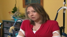 Cyndi Desjardins is seen speaking to CTV News about her health ordeal in this undated image.