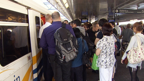 Translink problems create long commuter delays in Vancouver. Monday, July 4, 2011.
