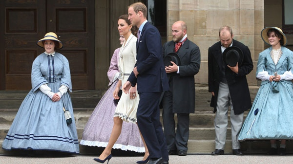 The Duke and Duchess of Cambridge arrive at Province House in Charlottetown Monday, July 4, 2011. (Ryan Remiorz / THE CANADIAN PRESS)