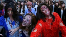 Zombie walk on Tokyo Tower