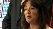 Ontario Education Minister Leona Dombrowsky said that gains made in the province's schools could be lost if the Tories or New Democrats are elected in the fall on Monday, July 4, 2011.