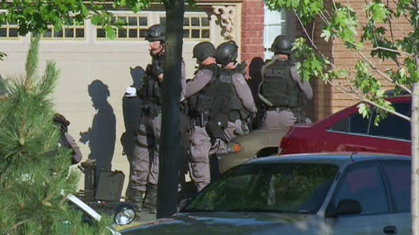 The incident ended in a standoff with police, Monday, July 4, 2011.