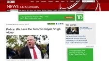 Rob Ford in world headlines
