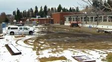 interim gym, Elbow Park School, portables, Canadia