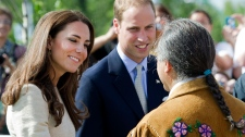 The Duke and Duchess of Cambridge meet with people as they take part in northern activities in Yellowknife, N.T., on Tuesday, July 5, 2011. (Nathan Denette / THE CANADIAN PRESS)