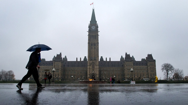 Parliament Hill in Ottawa on October 31, 2013