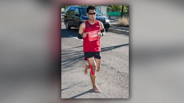 barefoot runner sets sight on boston marathon