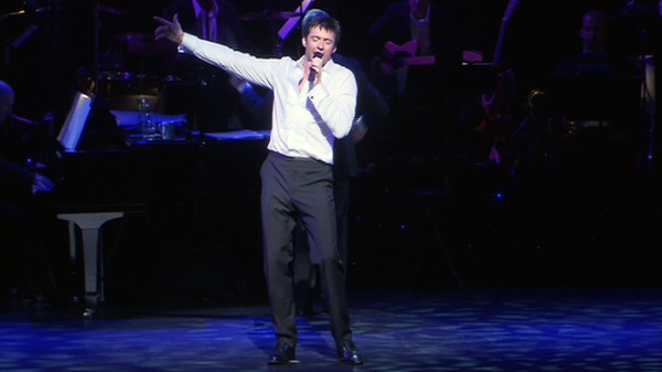 Hugh Jackman performs during opening night of 'Hugh Jackman in Concert' at the Princess of Wales Theatre in Toronto, Tuesday, July 5, 2011.