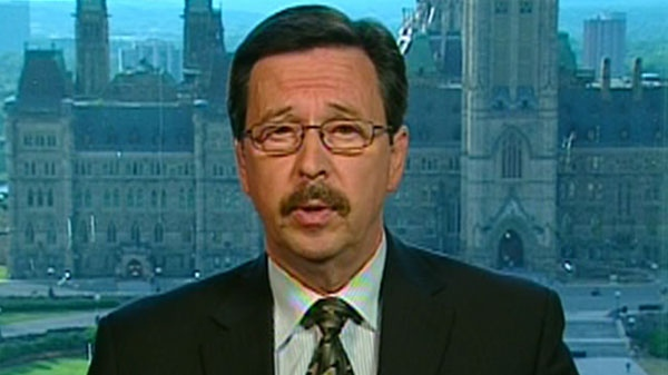 Canada Post spokesperson John Caines is seen speaking to CTV News Channel in Ottawa, Wednesday, July 6, 2011.