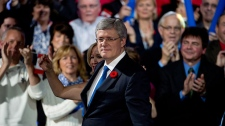 Harper at the Conservative Convention in Calgary