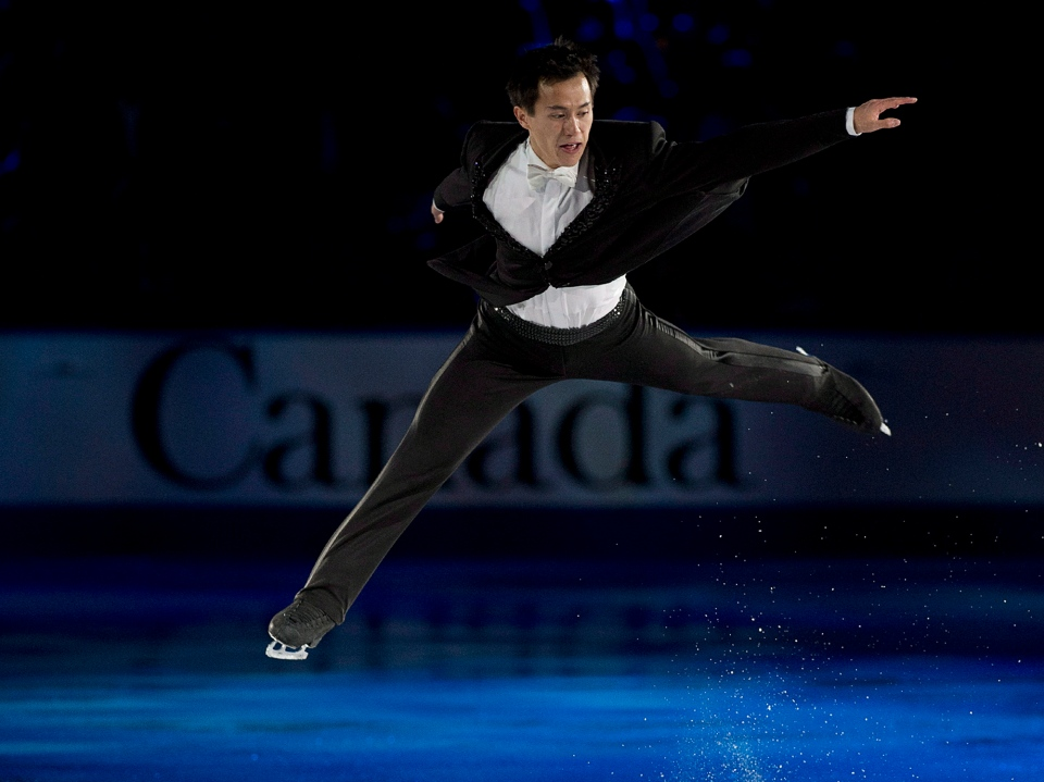 Canada's Patrick Chan performs at the Skate Canada International exhibition gala in Saint John, N.B. on Sunday, Oct.27, 2013. THE CANADIAN PRESS/Andrew Vaughan