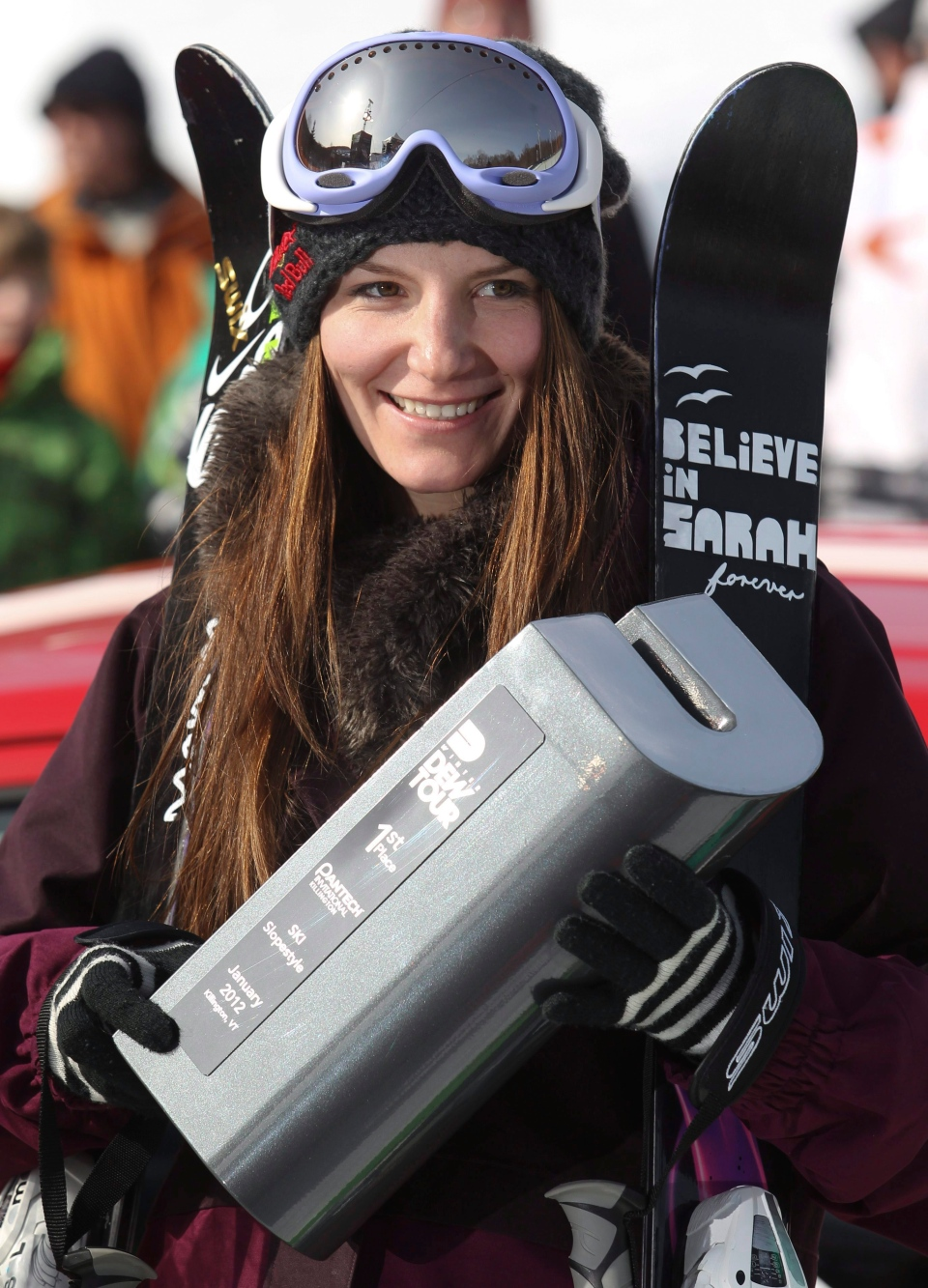 Kaya Turski of Montreal took top spot and the trophy in slopestyle finals action at the Winter Dew Tour in Killington, Vermont, Sunday, Jan. 22, 2012. THE CANADIAN PRESS HO-CFSA-Mike Ridewood