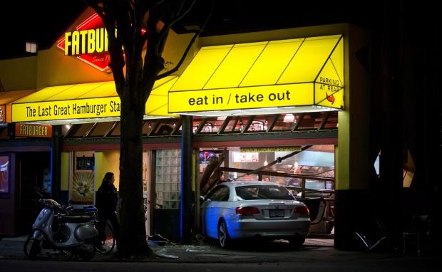 Car crashes into Fatburger