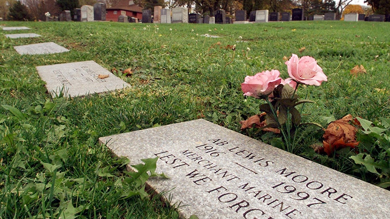 Graves at the Fairview Cemetery in Halifax on Thursday, Nov. 9, 2000. (Andrew Vaughan / THE CANADIAN PRESS)