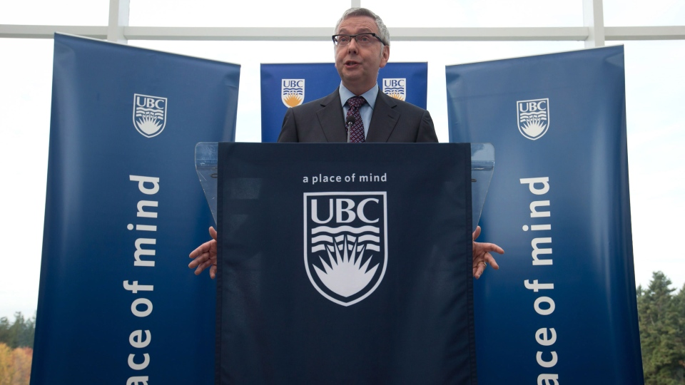 University of British Columbia President Stephen Toope comments on the recent sex assaults on the campus, in Vancouver, B.C., on Wednesday, Oct. 30, 2013. (Darryl Dyck / THE CANADIAN PRESS)