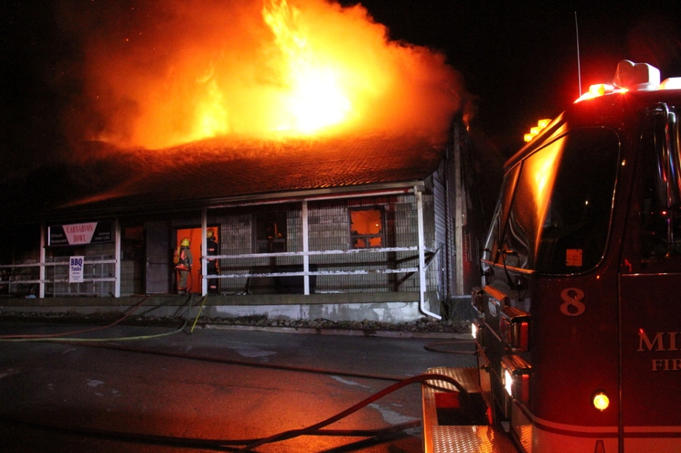 Carnarvon Bowl Fire