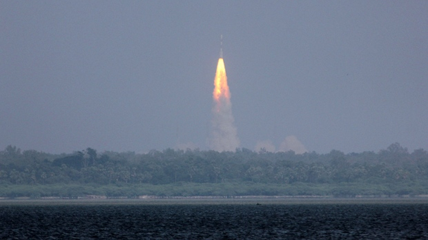 Rocket carrying Mangalyaan orbiter, Sriharikota