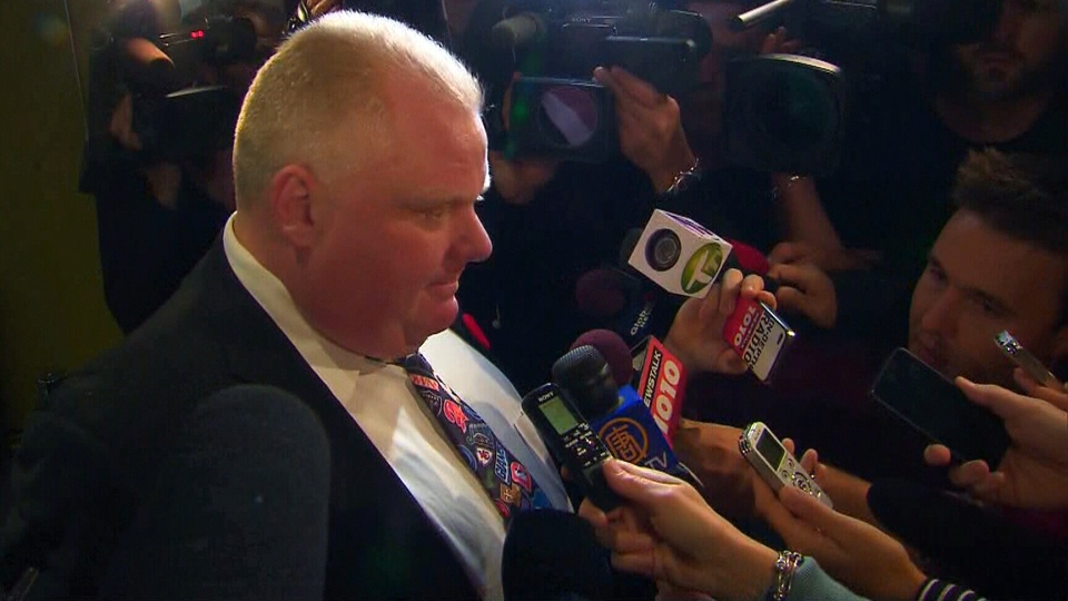Toronto Mayor Rob Ford admits to reporters at city hall: Yes I have smoked crack cocaine.