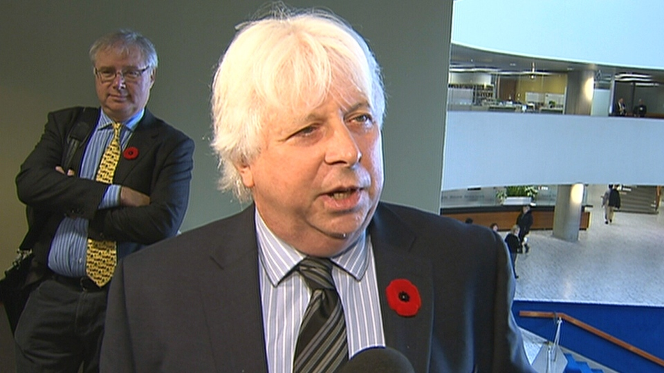 Coun. John Filion reacts to Mayor Rob Ford's admission to smoking crack cocaine in Toronto, Tuesday, Nov. 5, 2013.