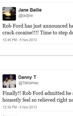 Storify on Rob Ford's admission