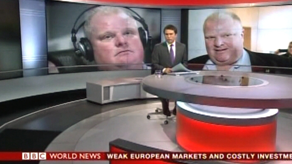 The BBC was one of the international media organizations that covered the Rob Ford crack cocaine admission.