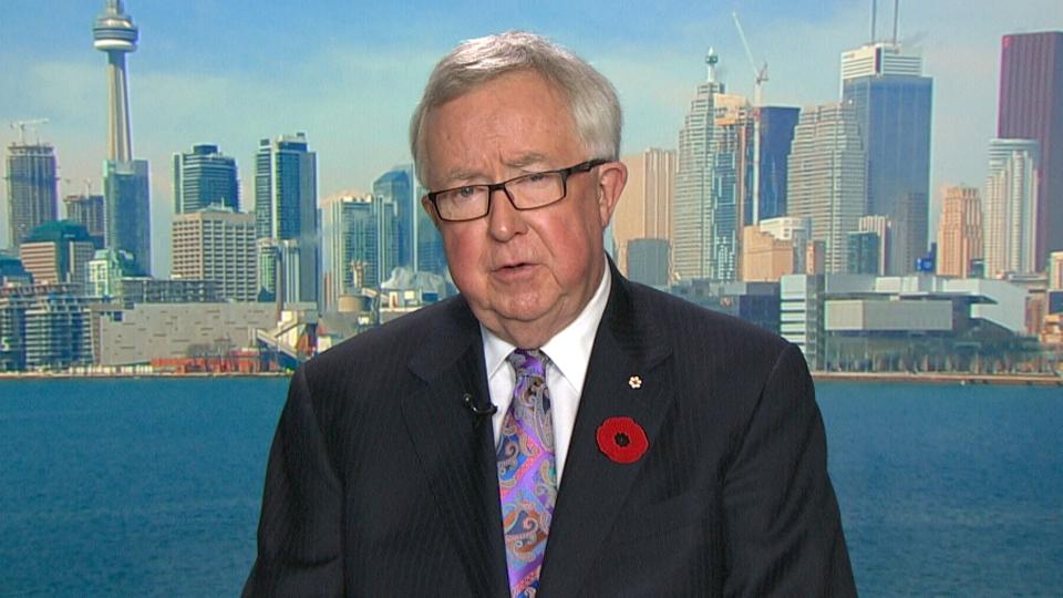 Former Prime Minister Joe Clark appears on CTV's Power Play, Wednesday, Nov. 6, 2013.