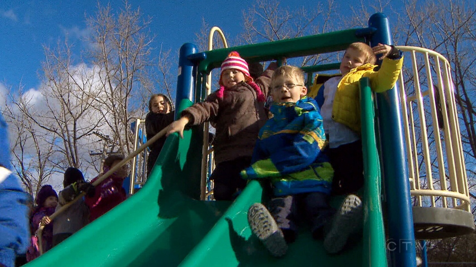 Coghan Fundamental Elementary School in Langley has implemented a no-touching policy for kindergarten students at recess.