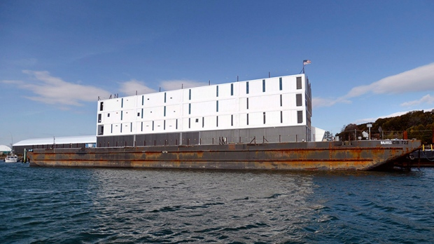 Google barge in Portland, Maine