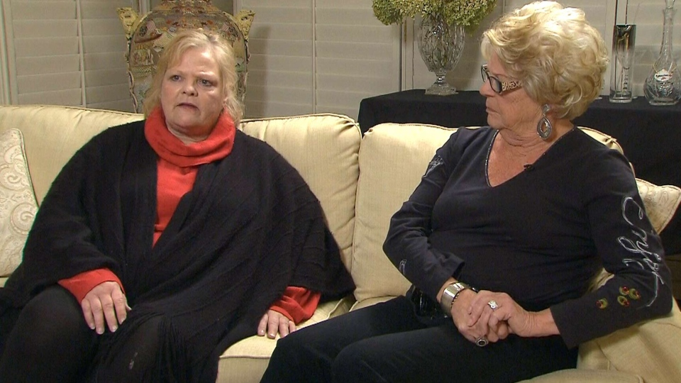Toronto Mayor Rob Ford's sister, Kathy, left, and mother Diane, speak to CP24's Stephen LeDrew, Thursday, Nov. 7, 2013.