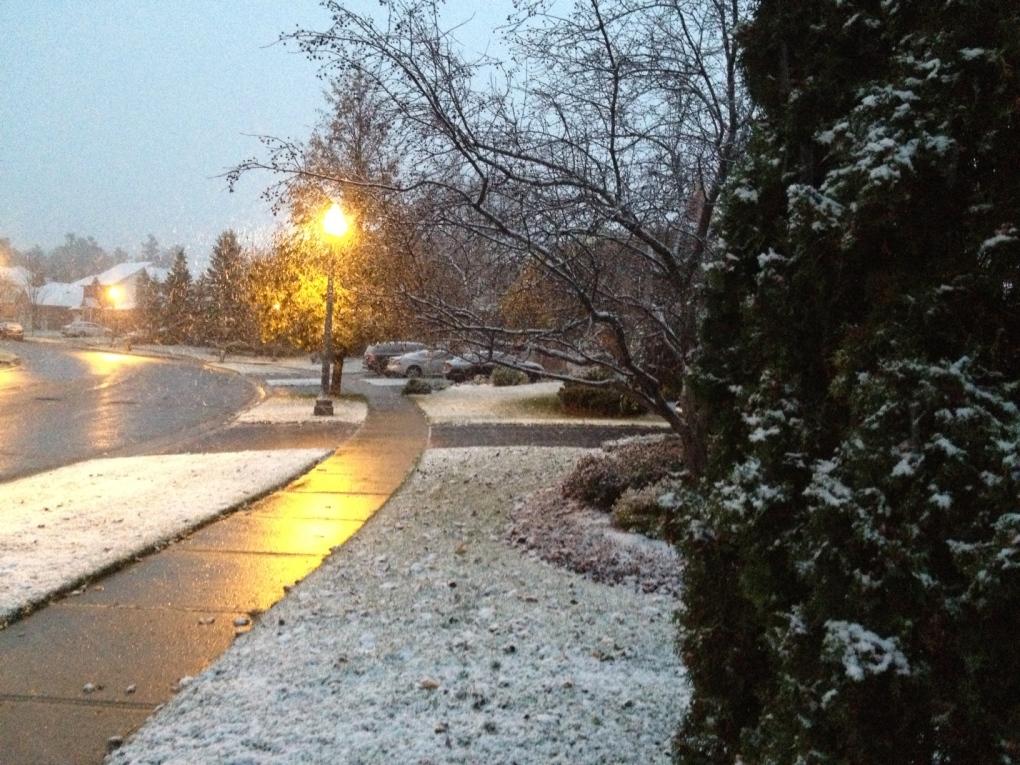Snow in Kitchener