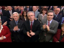 The Liberal Party of Canada's new ad, entitled 'The Green Shift,' features high-profile members of the party.