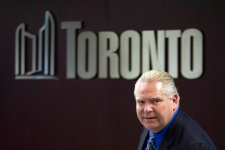 Doug Ford, Rob Ford leave at city hall
