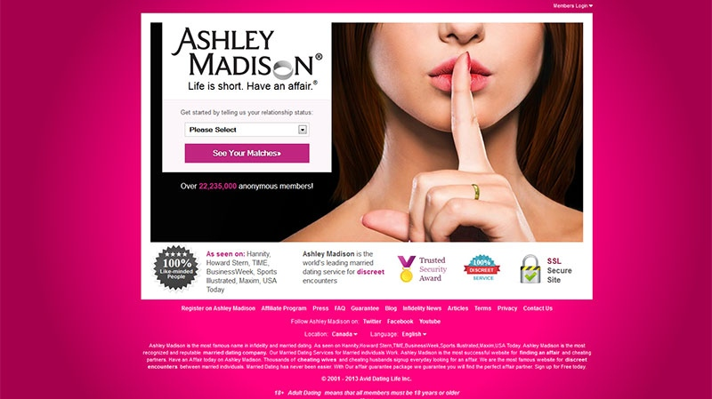 Ashley Madison - an online cheating site - has been hacked