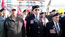 Protesting closure of Veterans Affairs office