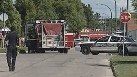 Police and fire crews were called to the incident on Royal Avenue July 10 afternoon.