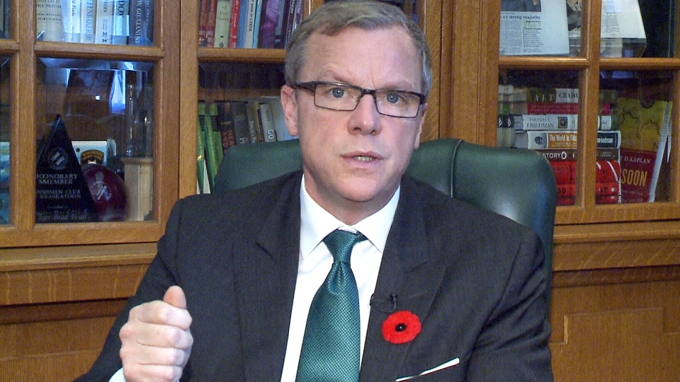 Saskatchewan Premier Brad Wall speaks to CTV's Question Period.