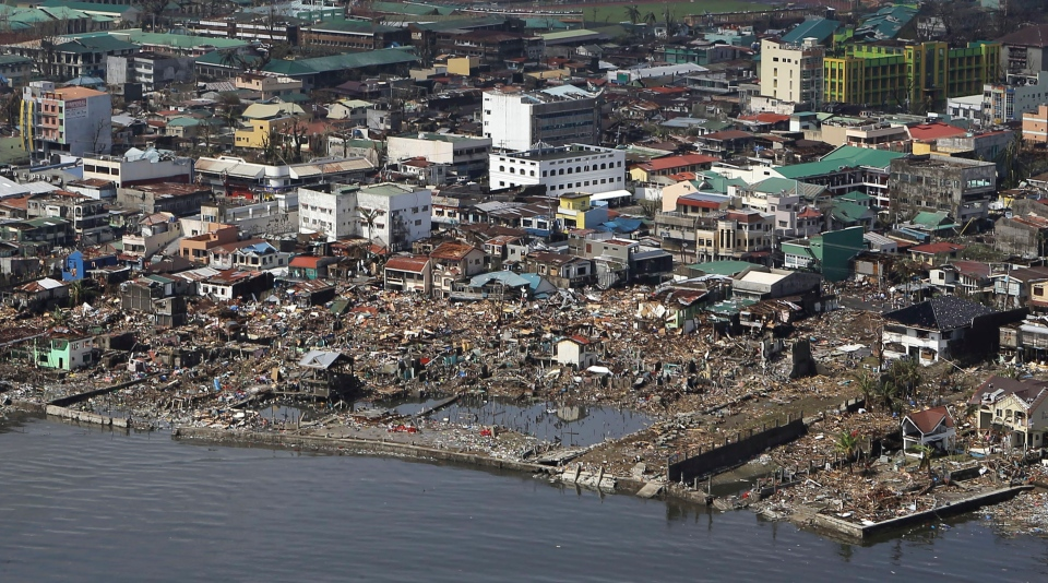 The devastation caused by Typhoon Haiyan, are seen Sunday, Nov. 10, 2013, in Tacloban city, Leyte province in central Philippines.(AP Photo/Toti Navales)