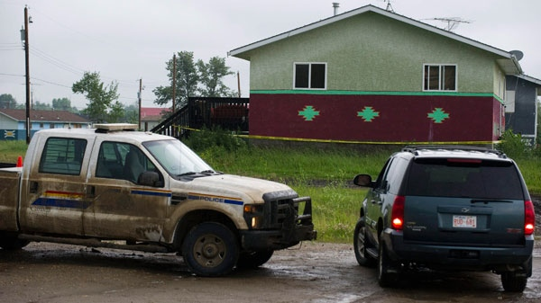 A five-year-old boy was fatally shot in this house on the Samson Cree First Nation reserve  near Hobbema, Alberta, Monday, July 11, 2011. (Ian Jackson / THE CANADIAN PRESS)