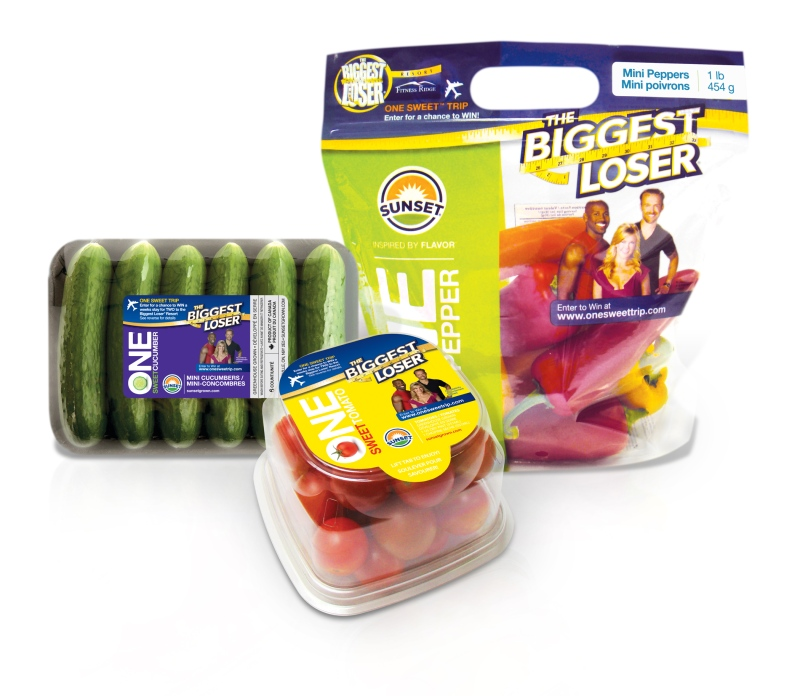 Sunset Mastronardi released this image of 'The Biggest Loser' branded produce being featured on the show.
