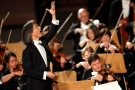 Japan's Kent Nagano conducts the Bayerische Staatsorchester from Munich, Germany, during a concert attended by Pope Benedict XVI in the Paul VI hall at the Vatican, Saturday, Oct. 22, 2011. (AP / Pier Paolo Cito)