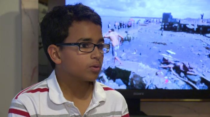 Andrew Ilyas, 14, speaks with CTV News on Monday, Nov. 11, 2013.