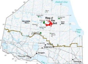 A map of Ontario's Ring of Fire is seen. (Republic of Mining)
