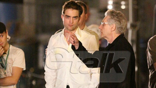 Robert Pattinson is seen on a film set in Toronto during the very early hours of Thursday, July 7, 2011. (Sean O'Neill)