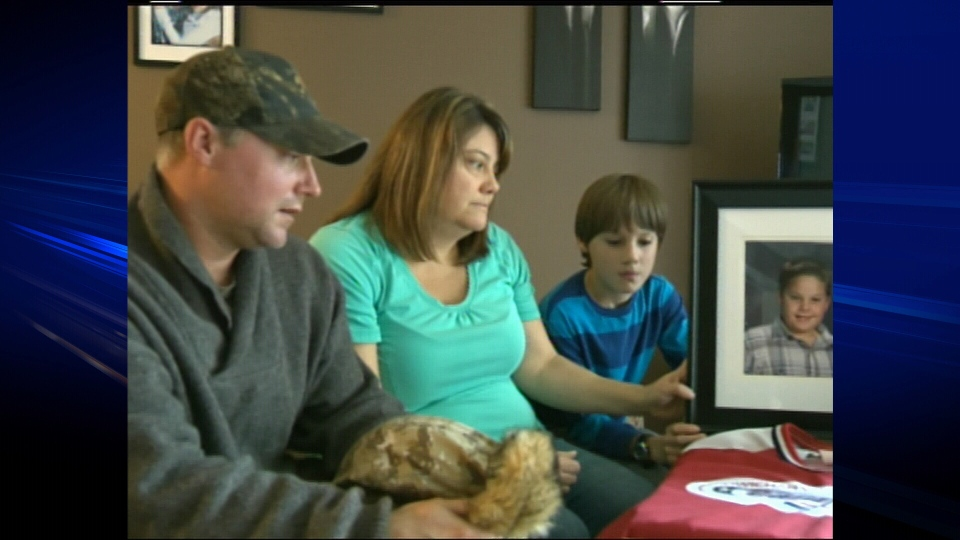 The Kroffat family is looking for answers after their 11-year-old son suddenly collapsed and died outside a junior hockey game. (CTV)